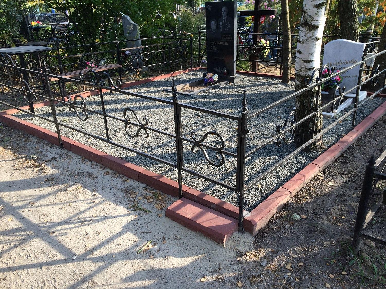 Как сделать ограду на могилу фото 755